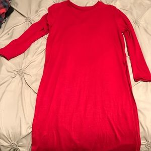 Dresses & Skirts - Red dress with high slits